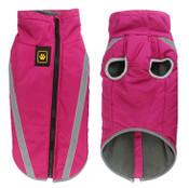 Large Pink Waterproof Fleece Dog Coat
