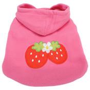 Pink Strawberry Dog Fleece