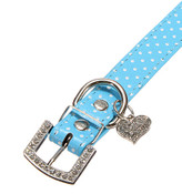Blue Spotty Dog Collar