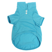 Blue Plain Dog Polo Shirt