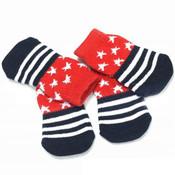 Stars and Stripes Dog Socks
