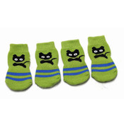 Green Cat Dog Socks