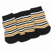 Brown Striped Dog Socks
