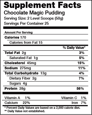 Body Nutrition Magic Pudding Chocolate Ingredients
