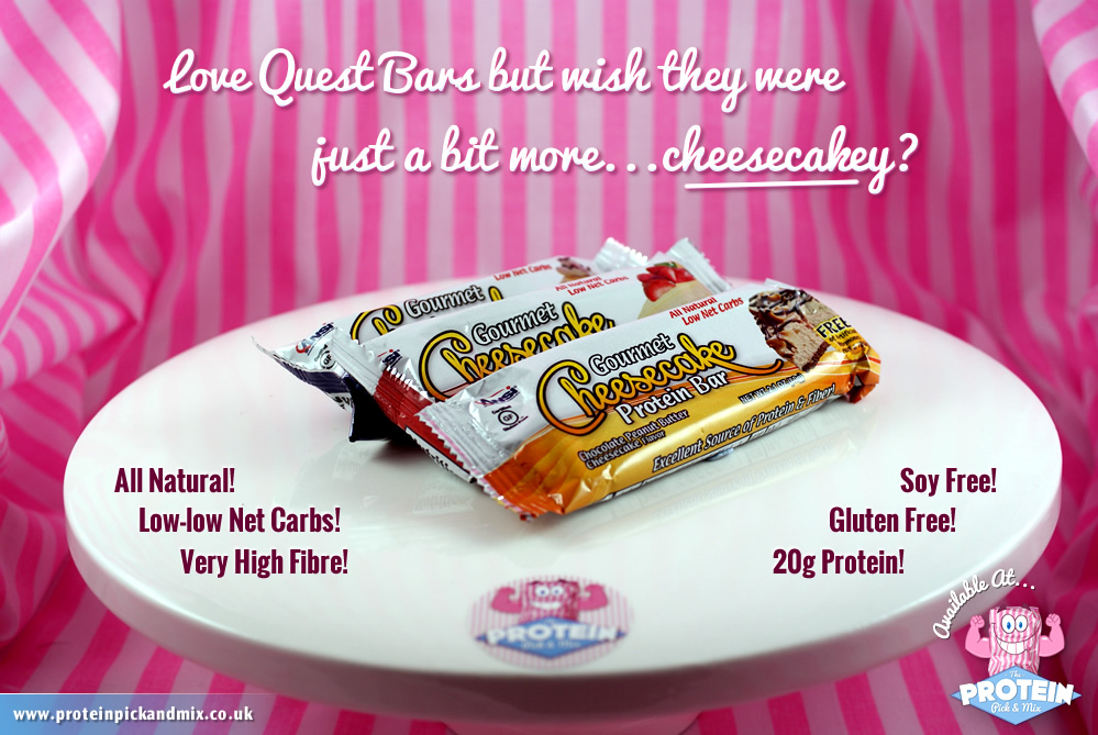 Low-carb ANSI Cheesecake Bars at the Protein Pick and Mix
