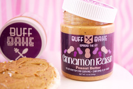 Buff Bake Cinnamon Raisin Peanut Butter (340g). Packed with cinnamon and protein! #NEW