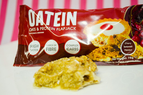 CoreX Fitness Oatein Protein Flapjack 19g Protein - Cherry Bakewell  #NEW #FEAT