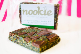 Nookie 'Naughty But Natural' Bar -  Almond Butter, Spirulina & Chocolate Chips #NEW #FEAT Let's get NOOKED!!