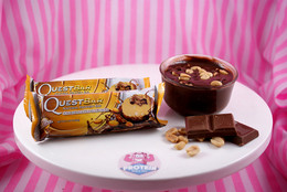 Chocolate Peanut Butter Quest Nutrition Bars. (Oh yeah)