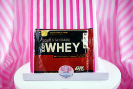 Optimum Nutrition 100% Whey Gold Standard Sachet. French Vanilla Creme.