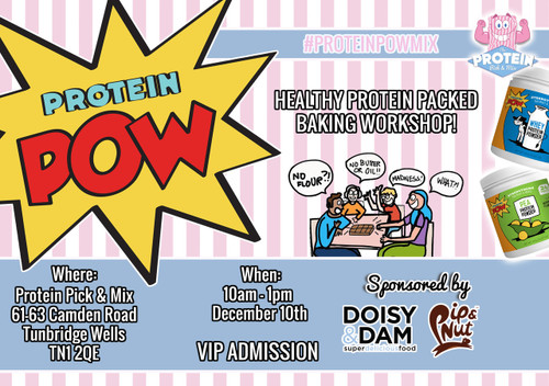 A morning of fun, messy, healthy & tasty protein baking with Protein Pow!