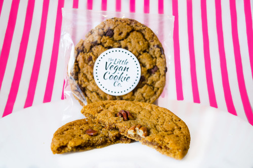 The Little Vegan Cookie Co. Salted Caramel Pecan Cookie  #NEW #FEAT