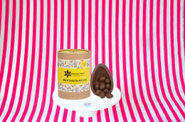 Montezuma's Milk Chocolate Egg With Peanut Butter Truffles Inside - 350g
