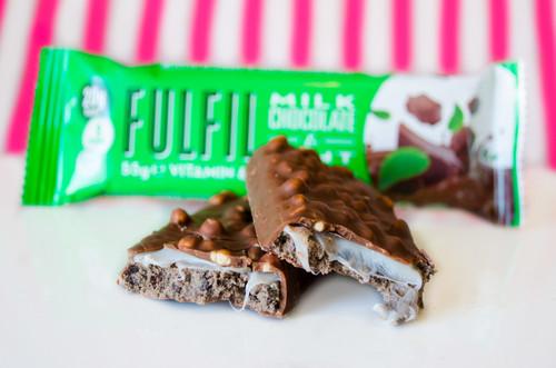 Fulfil Vitamin & Protein Bar Milk Chocolate Mint  #NEW #FEAT