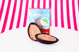 Kamalive Vegan & Paleo Cashew Cream  'Mint Crunch' Peppermint & Coconut Nectar Infused Egg - 40g
