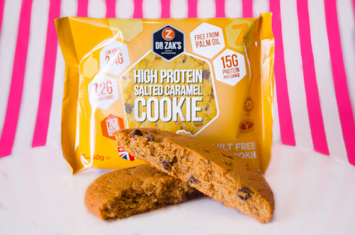Dr Zaks Sugar Free High Protein Guilt Free Salted Caramel Cookie #NEW #FEAT