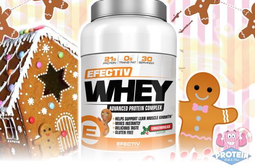 Efectiv Whey Protein Powder - Gingerbread Flavour