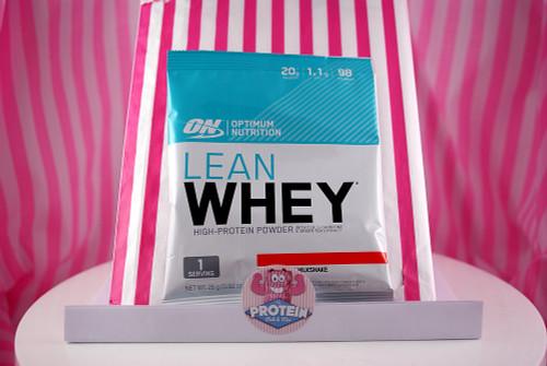 Optimum Nutrition Lean Whey Sachet. Strawberry Milkshake.