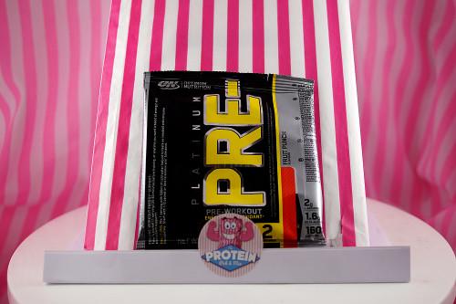 Optimum Nutrition Platinum PRE- Pre-Workout Supplement. Fruit Punch flavour. 2 serving sachet (20g).