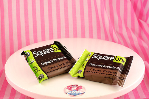 Squarebar Organic Protein Bar - Cocoa Crunch. Vegan, Soy-Free and Gluten-Free!