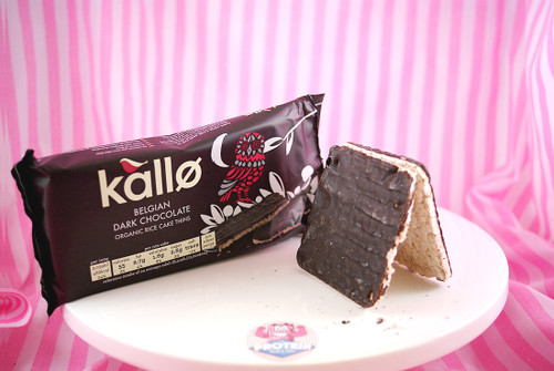 Kallo - Belgian Dark Chocolate Rice Cake Thins (only 55kcals a thin!) #FEAT