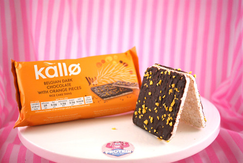 Kallo - Dark Chocolate with Orange Pieces Rice Cake Thins (6 per pack)