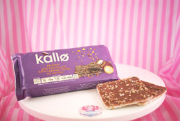 Kallo - Belgian Milk Chocolate with Caramel Pieces Rice Cake Thins (only 65kcals a thin!)