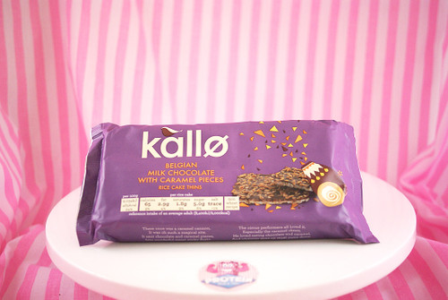 Kallo - Milk Chocolate with Caramel Pieces Rice Cake Thins (6 per pack)