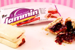 NEW Vanilla Cherry Pie B-Jammin' Bars! Real fruit carbs, protein and fibre. #NEW #FAVE #FEAT