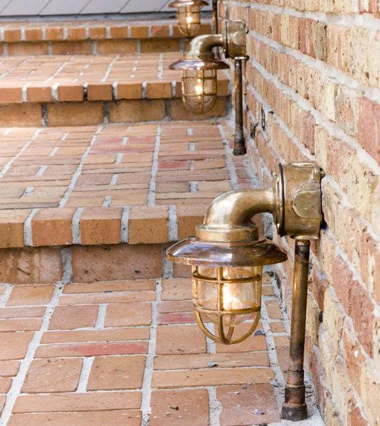 brass outdoor lights