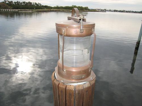 copper nautical light