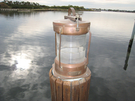 copper nautical light