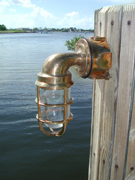 Bronze passageway dock light with no hood