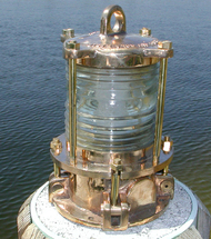 Bronze nautical piling dock light