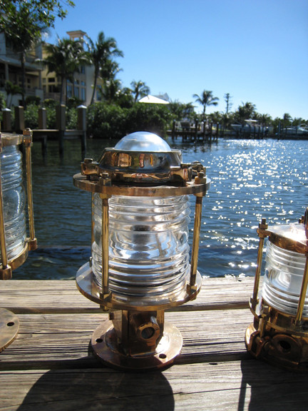 large pedestal dock light