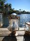large pedestal dock light