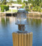 patina large pedestal dock light