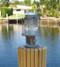 patina large pedestal dock light