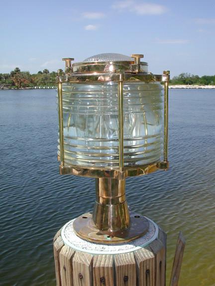 pedestal nautical dock pier light
