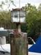 XL bronze nautical pedestal dock light