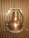 copper and polished chrome nautical hanging light