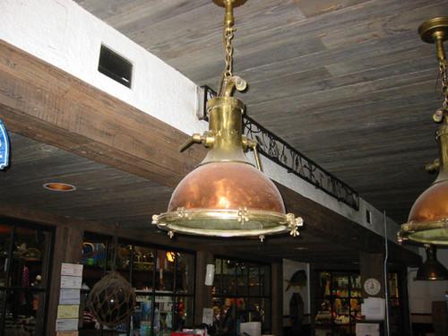 hanging cargo ship light