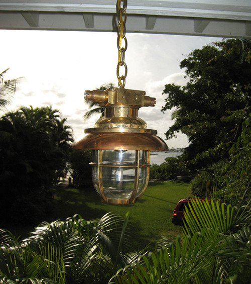 US Navy hanging nautical light