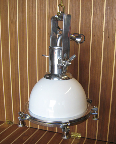 hanging aluminum nautical light