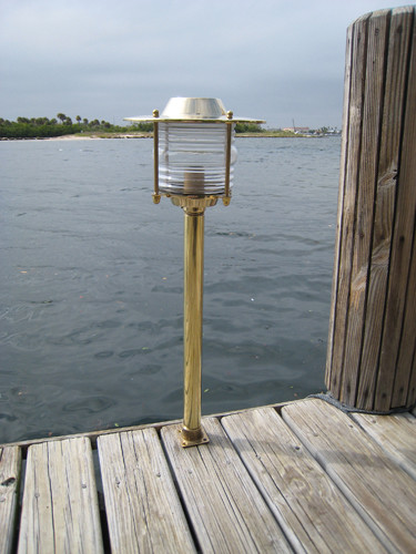 brass pathway dock light