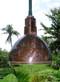 copper deep bowl nautical light