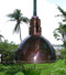 copper bowl nautical light