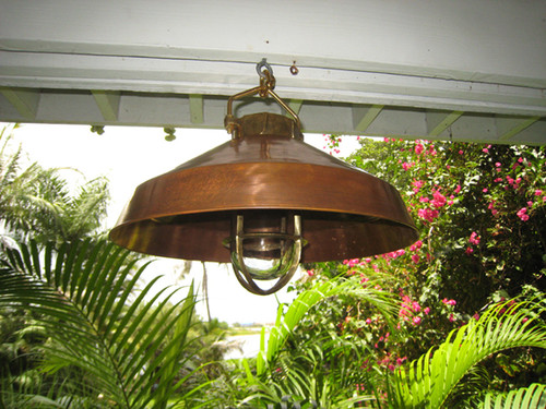 hanging marine nautical copper shade light