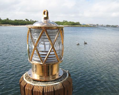 European Nautical Bronze Piling Dock Light Dock Lights