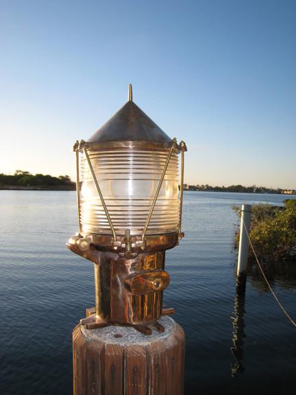 Coast Guard Bronze Nautical Pedestal Dock Light Dock Lights